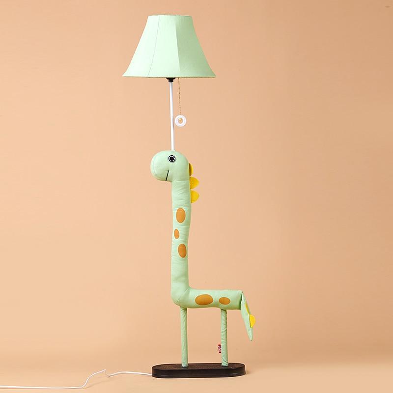 Здесь продается  Modern Lamp Decoration Handmade Cloth Animal Dinosaur Green Monster Children Floor Light for living room Kis Gift  Свет и освещение