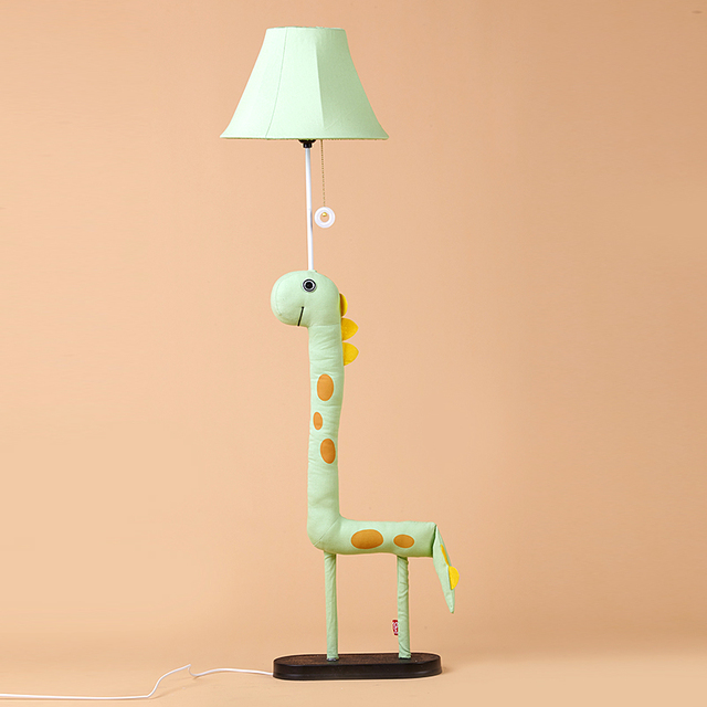 Modern Lamp Decoration Handmade Cloth Animal Dinosaur Green Monster  Children Floor Light for living room Kis - Modern Lamp Decoration Handmade Cloth Animal Dinosaur Green