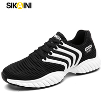 SIKAINI Outdoor Men Running Shoes 2017 Athletic Jogging Sports Sneakers Breathable Mesh Lace Up Soft EVA