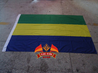 Gabon National Flag 100 Polyster 120 180CM Anti UV Digital Printing Flag King Gabon Banner
