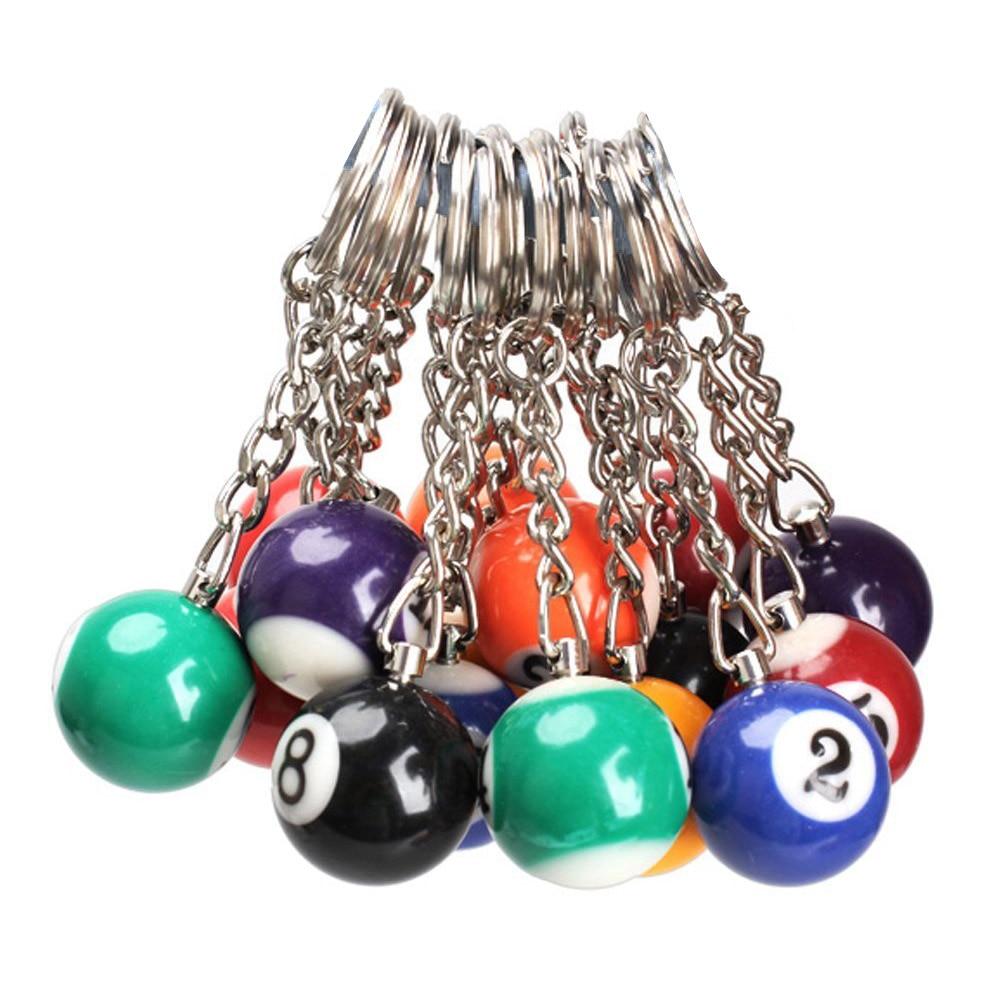 16x Billiard Ball Key Chain Key Ring