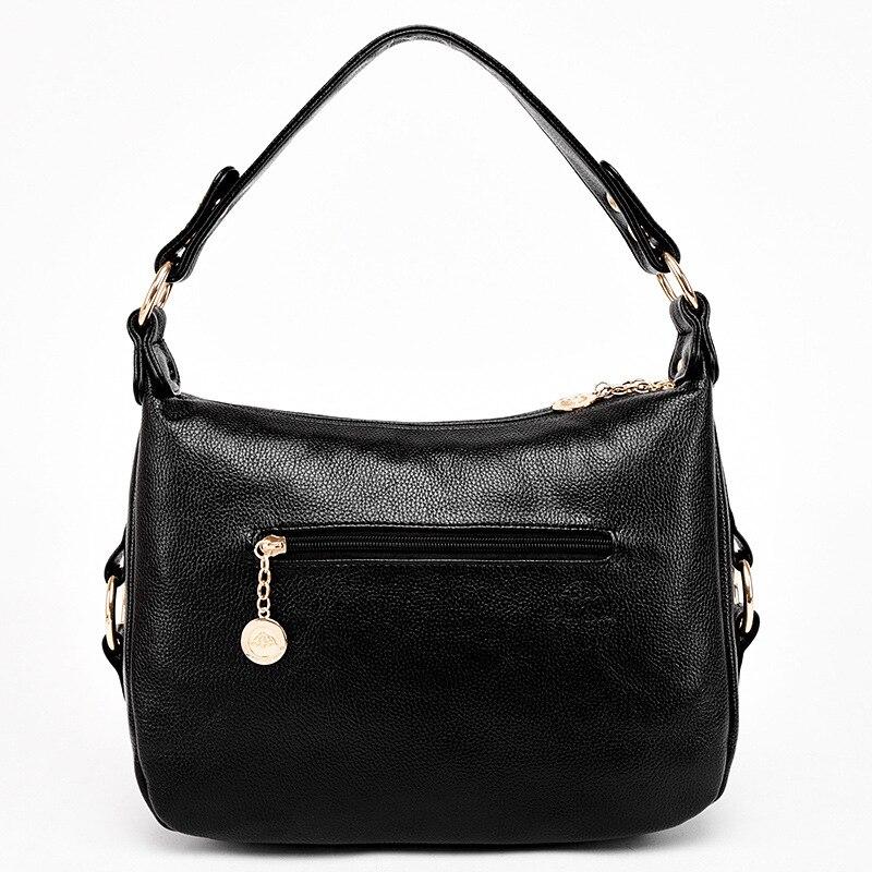 2019 printemps nouveau style rétro européen et américain simple grande capacité noir femme grand sac sac à bandoulière sac à main