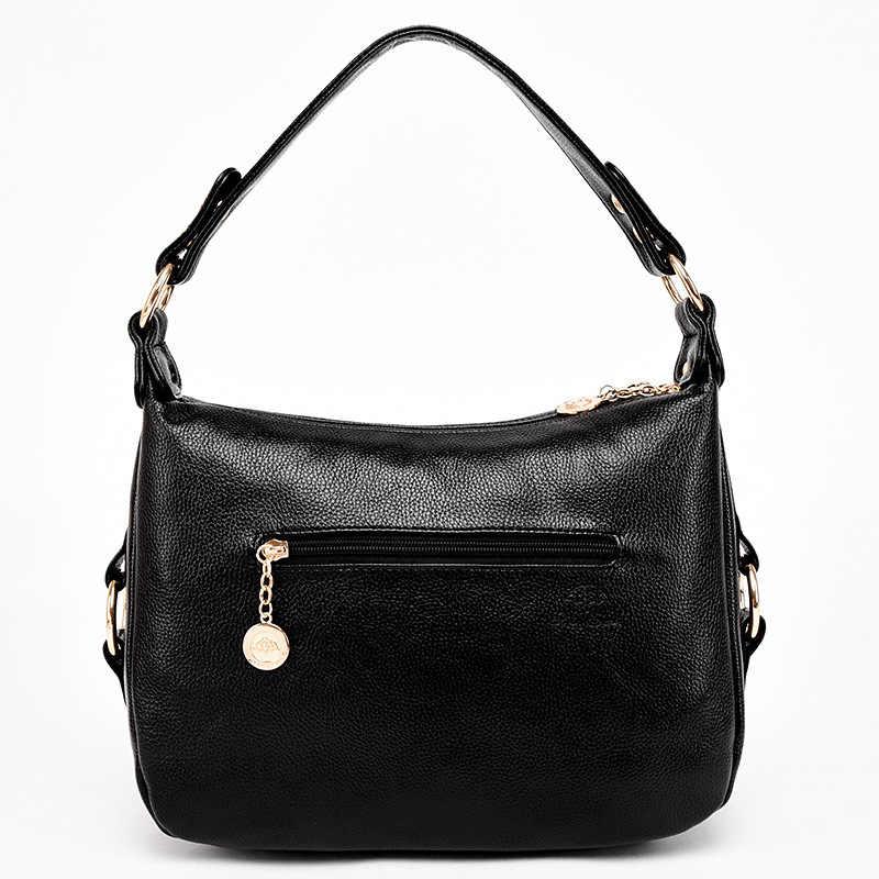 Новинка весны 2019 года Европейский и американский Ретро стиль простые большого объема черный женский большой сумка сумочка
