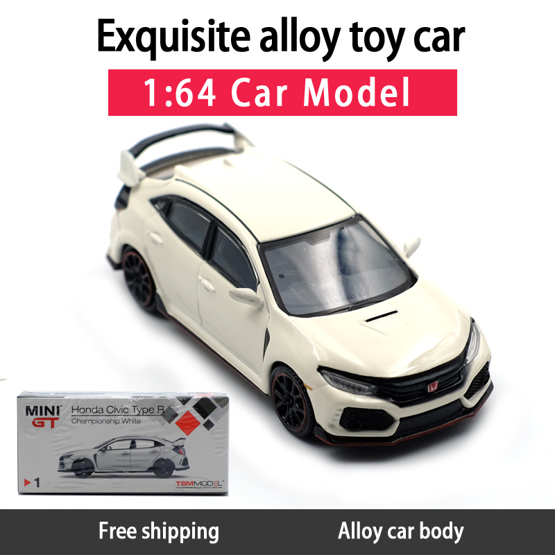 1:64 TSM Models Honda Civic Type R Diecast Model Car MINI GT Diecast Metal Toys Birthday Gift For Kids Boy Other
