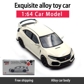 1 64 modele TSM Honda Civic typ R model odlewu samochodu MINI GT odlewany metal zabawki urodziny prezent dla dzieci chłopiec inne tanie i dobre opinie WELLY 6 lat Diecast Samochód