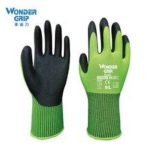 WG 501 5 Pairs Hoge Fluorescerend Groen Nylon Nitril Micro Foam Maxi Schuring Veiligheid Tuinieren Werkhandschoenen