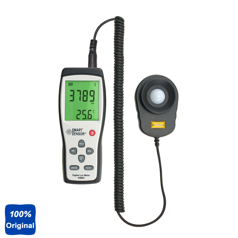 AS823 Digital Lux Meter Light Meter Illuminance Flow Meter measurement 1~100.000lux fast arrival victor illuminance meter vc1010b meter meter lumens tester illuminance meter brightness table