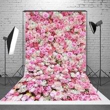 1.5x2.1m 5x7ft Wedding Rose 3D Flowers Wall Studio Backdrop