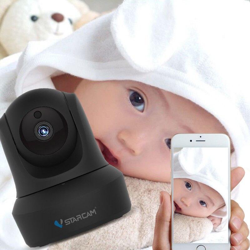 Vstarcam C29 Monitor de bebé 720 p HD IP Cámara WiFi detección de movimiento de visión nocturna Audio CCTV Red de Seguridad inalámbrico negro