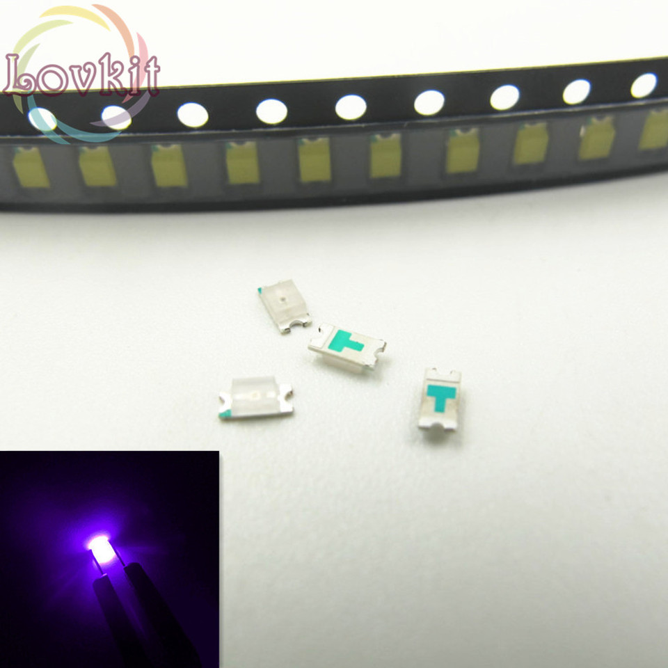 Ultra Bright LED Pack of 100 0603 SMD UV//Purple