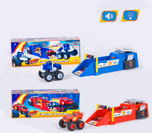 1pcs Blaze storm Monster Machines Launcher hot wheel race Car toy 26 5cm with sound and