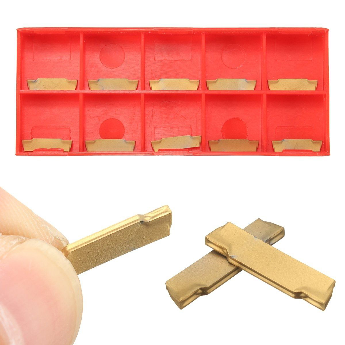 10pcs MGMN150-G Carbide Inserts 1.5mm Mayitr CNC Machine Lathe Grooving Inserts Carbide Blades Cutting Milling Turning Tool 2x12mm lathe parting cutting milling tool holder with 5 blades 200mm