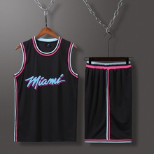 283c19476134c Ensemble de Sport de basket-ball personnalisé hommes MIAMI 2 #(0 #-99 #),  maillot de basket-ball personnalisé blanc USA court, u.