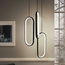 цены на Black/White Color Modern led pendant lights for living room dining room acrylic aluminum body LED Pendant Lamp Free Shipping  в интернет-магазинах