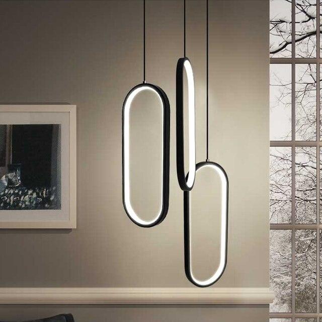 Cheapest Nero/Bianco di Colore Moderno lampade a sospensione led per ...