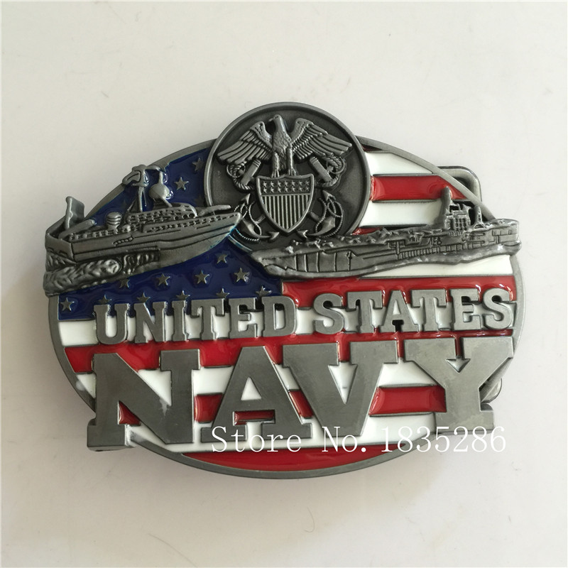 United States Navy Belt Buckle 9 7cm Metal Cowboy