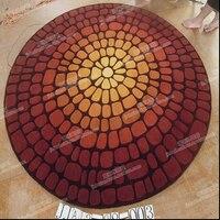 Steen cirkelvorm woonkamer koffietafel slaapkamer tapijt handgemaakte acryl tapijt tapijt kan worden aangepast