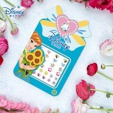 Los niños de Disney diy dibujos animados pegatinas de uñas congelados bebé impermeable pendientes princesa niña pegatinas de uñas