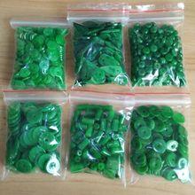 100 шт изумрудно-зеленый сухой зеленый мембранный бисер пинг Пряжка тканый браслет DIY Аксессуары нефритовые бусины