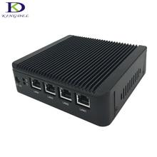 Kingdel безвентиляторный мини-ПК J1900 Quad Core 4 * Intel WG82583 Gigabit LAN брандмауэр многофункциональный маршрутизатор сетевой безопасности Desktop