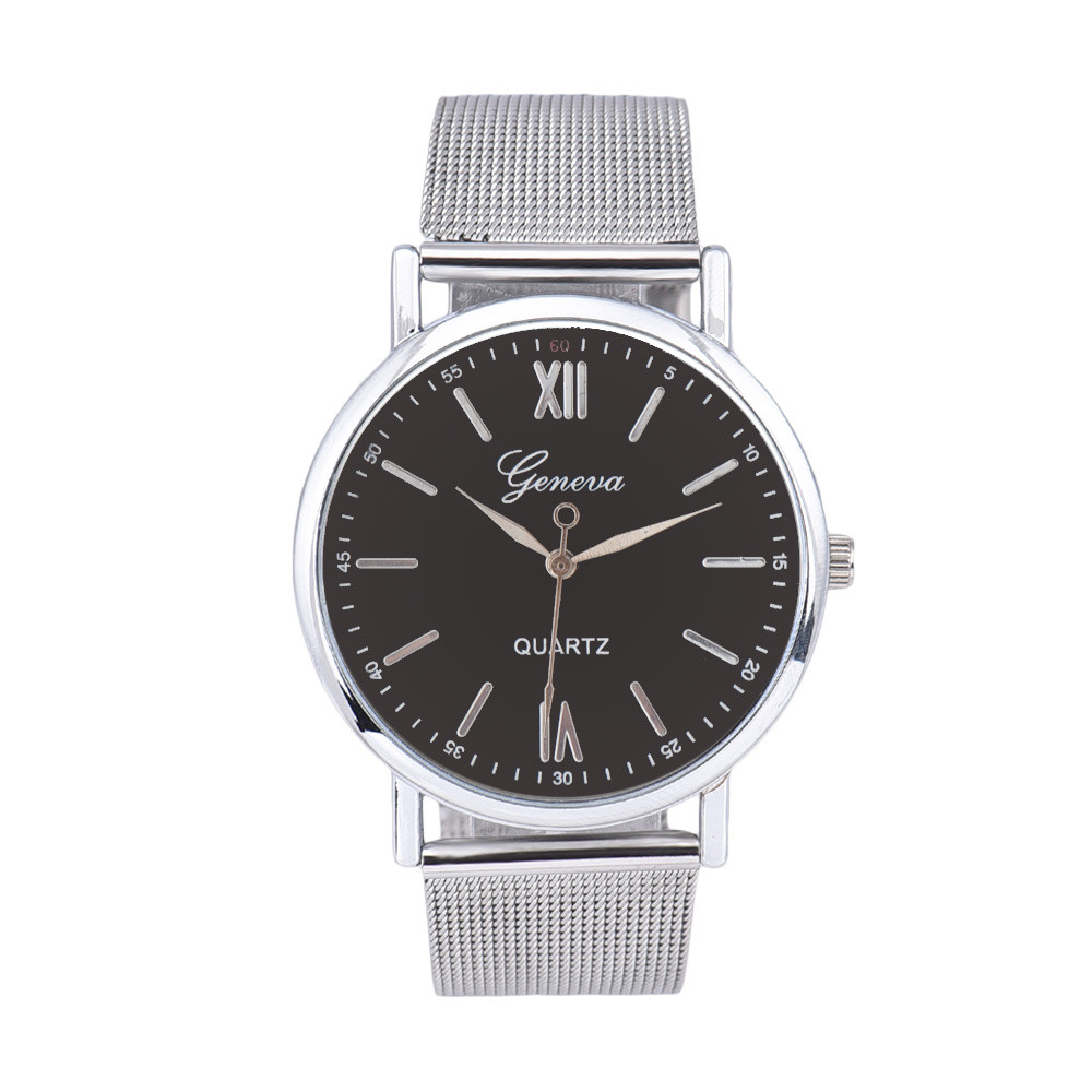 OTOKY Men Contracted Fashion Watches Steel Band Watches Sliver Stainless Steel Casual Business Sport Quartz Watches NI02