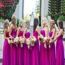 Elegant Soft Chiffon Bridemaid Dress Long Dresses Sweetheart purple Wedding guest Dress For Summer Wedding Wear 2016 Z018