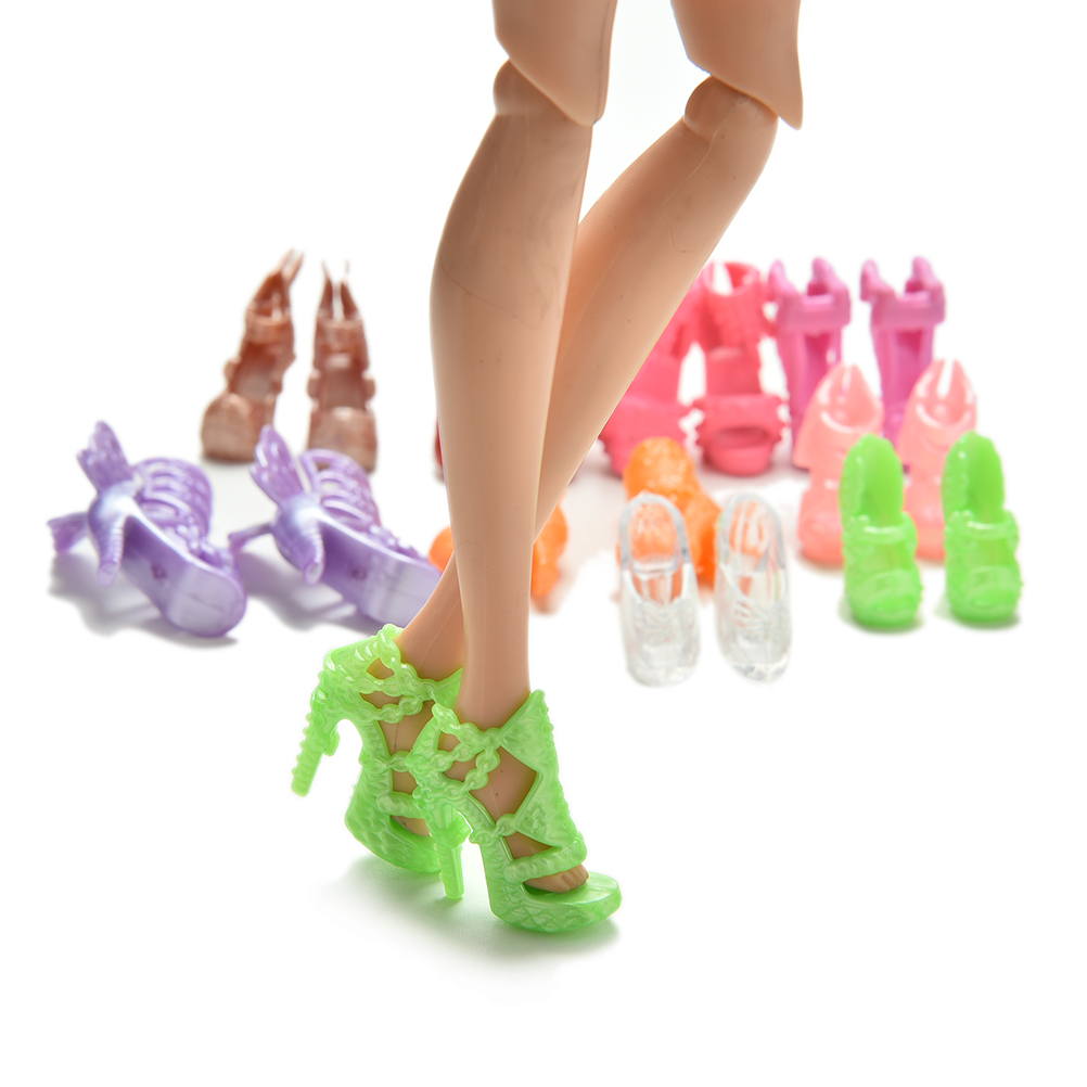 online shop 20pcs lot color random fashion fixed styles doll shoes