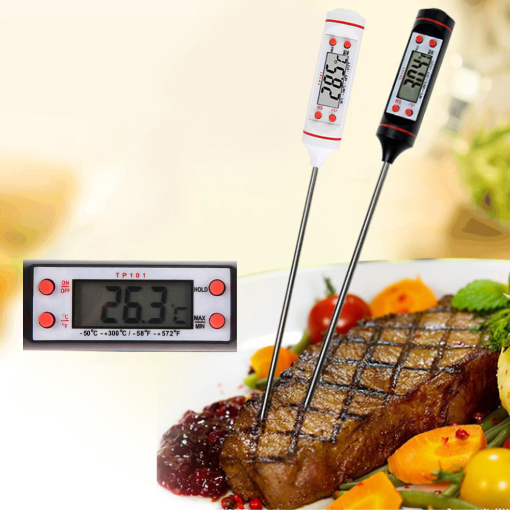 Digital Kitchen Thermometer For BBQ Electronic Cooking Food Probe Meat Water Milk  Meat Thermometer Kitchen Tools(China)