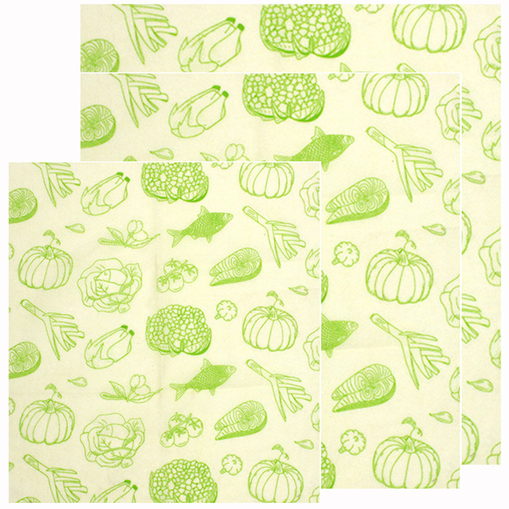 Bees wax Wrap Fish Pumpkin Pattern Organic Reusable Washable Beeswax Cloth Wrap Bread Cover Stretch Sandwich wrap Cup image