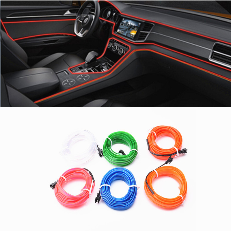 New Car interior refitting accessories LED Neon Lamp decoration For Skoda Octavia Yeti Roomster Fabia Rapid Superb Car-styling