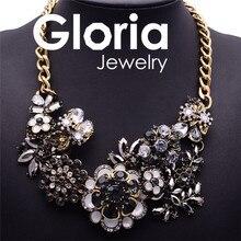 Роскошные высокая qualityt бренд себе кристалл ожерелья шкентеля для женщин 2015 колье нагрудник воротник цепи цветок ожерелье G060