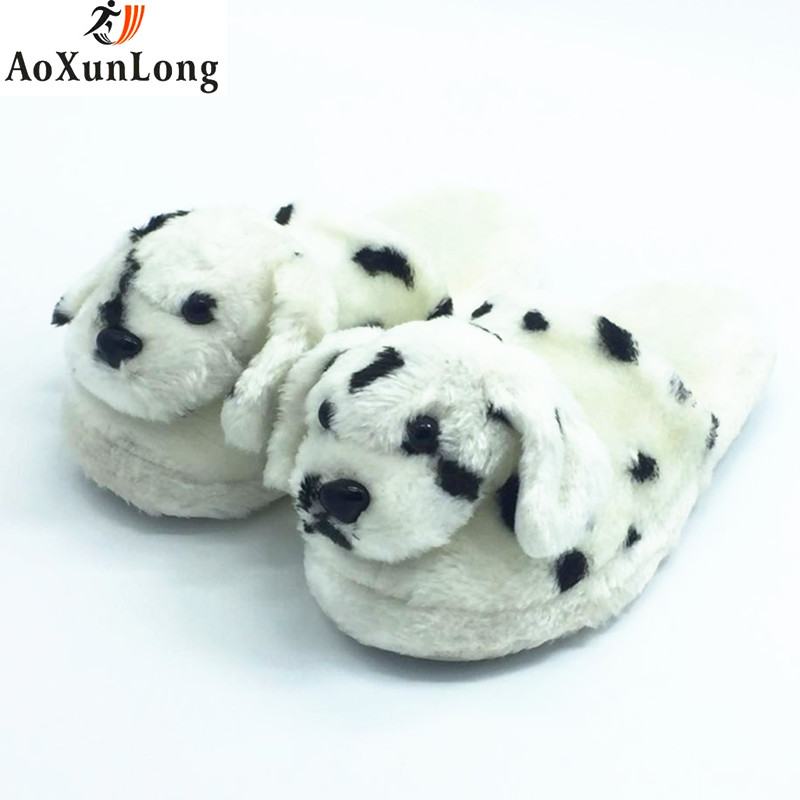 New Winter Husky dog Slippers Warm Plush Home Slippers Indoor Unicornio Shoes Woman Cow Color Slippers Women zapatos mujer 36-41 men winter soft slippers plush male home shoes indoor man warm slippers shoes