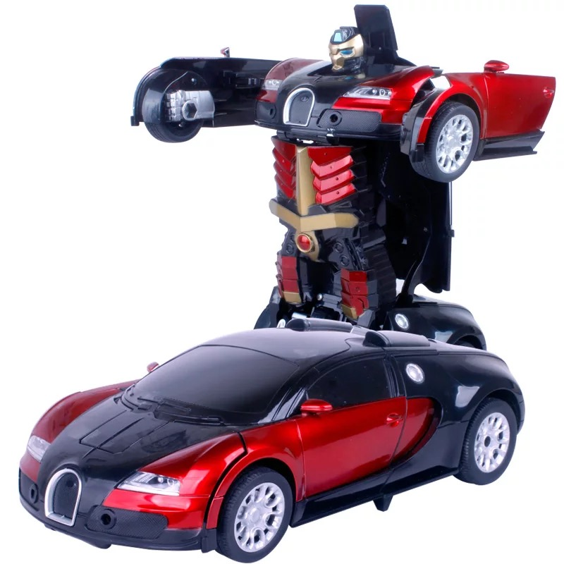 35CM Car Gesture Inductive Shape-car Rambo One-button Deformable Remote Control Car Robot Rechargeable Remote-controlled Car Boy