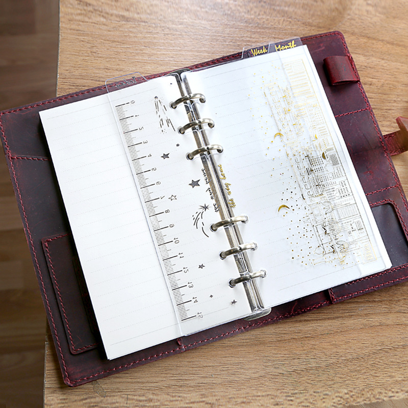 3pcs/set A6 Planner Divider PVC Notebook Journal Agenda Spiral Loose Leaf Divider Creative Stationery Office School Supplies