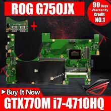 Original for ASUS G750JS REV2.0 with I7-4700HQ CPU motherboard Non-integrated free shipping