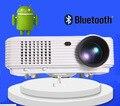Más barato 5000 lúmenes LED LCD Inteligente 1080 P full HD Android 4.4 WIFI cámara USB de cine en casa proyector portátil beamer