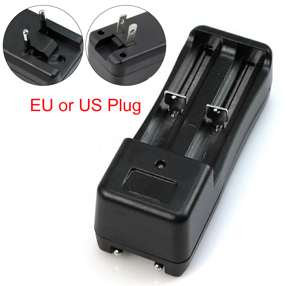 2018 New Dual Slot Wall Charger DC 3.7V for 18650/16430/14500 Li-ion Battery Short Circuit Protection High quality
