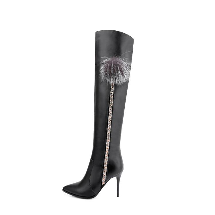 Zapatos Mujer Punta Delgada Rodilla Negro 4 Moda Intención Tamaño Botas Tacones Ef06021 Elegante De Mujeres La Las Sobre Original 9 Caqui ef06022 SnFAaqwZ
