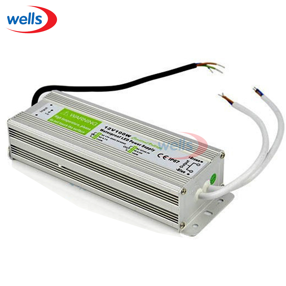 DC12V 100W Waterproof IP67 Power Supply Electronic transformer for halogen lamp outdoor Converter 12v to 220v LED Driver Adapter dc power supply 36v 9 7a 350w led driver transformer 110v 240v ac to dc36v power adapter for strip lamp cnc cctv