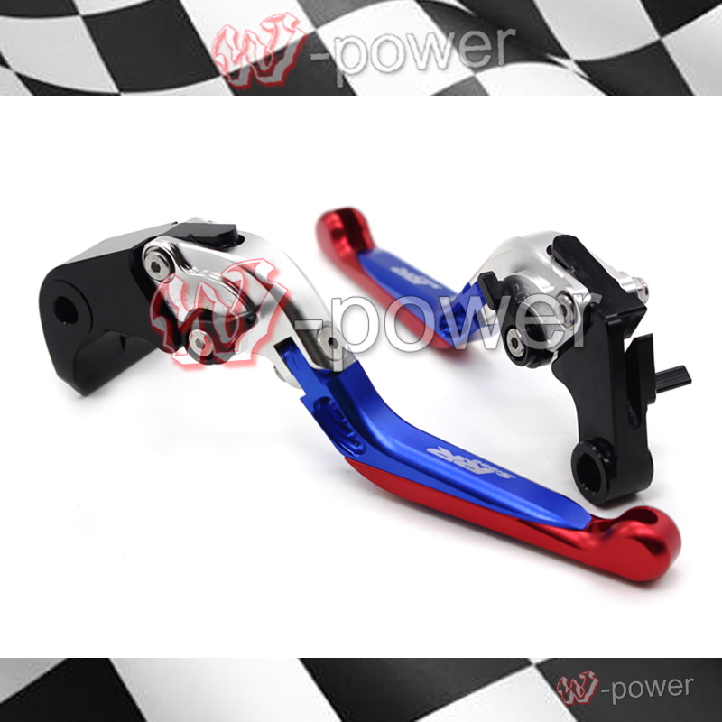 fite For BMW S1000RR 2010-2015 motorcycle accessories Adjustable Folding Extendable brake clutch lever silver + blue + red электроинструмент makita dbm131
