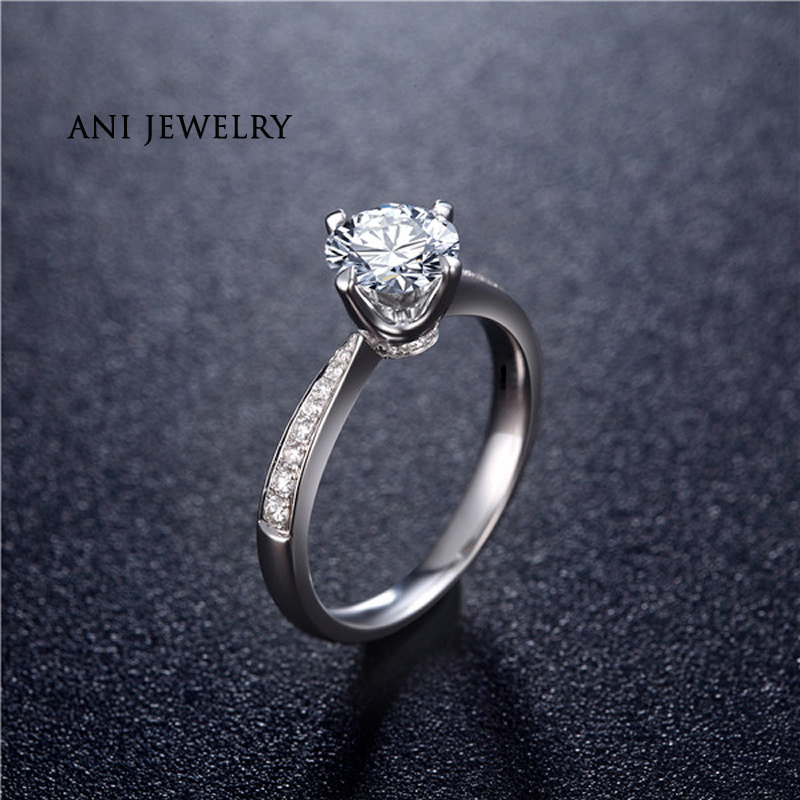 0.59 Cttw Round Cut 14k Solid White Gold Over Wedding /& Anniversary Band Ring 7