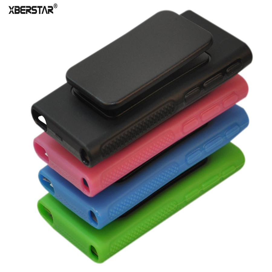 Soft TPU Rubber Skin Case Cover with Belt Clip for iPod Nano 7th Gen 7 7G
