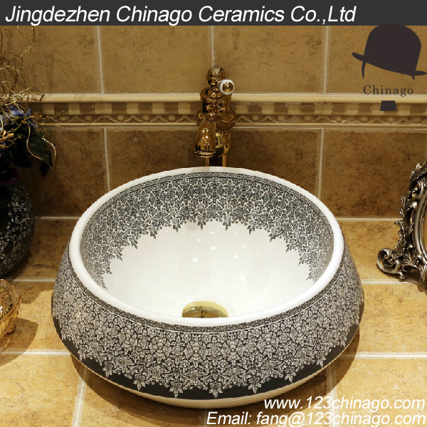 A6902 Chinese Bathroom Elegant Decorative Pattern Design Decorative Wash  Basin Art Ceram In Bathroom Sinks From Home Improvement On Aliexpress.com |  Alibaba ...