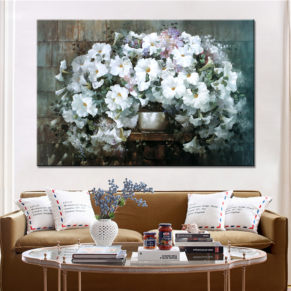 1 panel modern flowers still life canvas prints oil painting home decor wall art canvas picture - Canvas prints home decor photos ...
