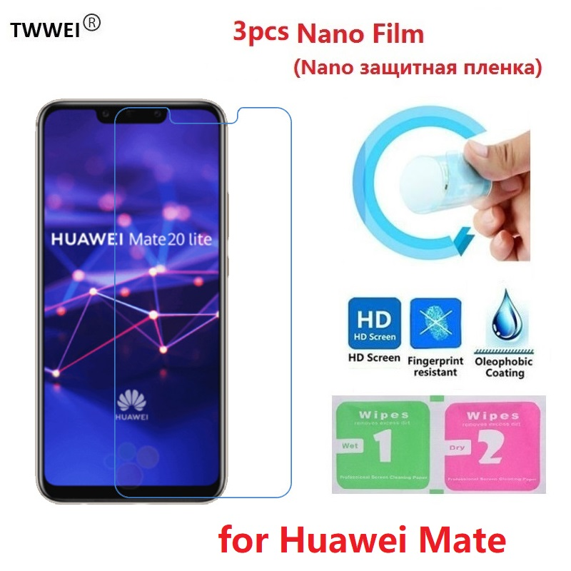 3pcs Protective Film On The For Huawei Mate 30 20 10 Lite Pro 9 Mate 20 X Lite Screen Protector Film Foil (Not Glass)