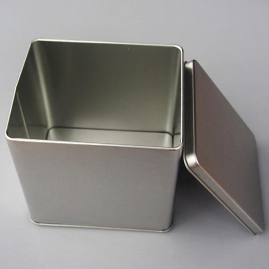 8pcs 110 95 105mm High Quality Rectangle Square Silver Tin