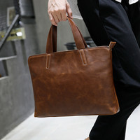 Stylish College Backpack For Men Womens With Laptop Compartment Brown Leather Laptop Bag 13inches Laptop Bag