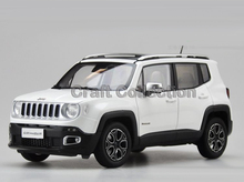 White 1 18 Jeep Renegade 2016 Cherokee City SUV Alloy Toy Car