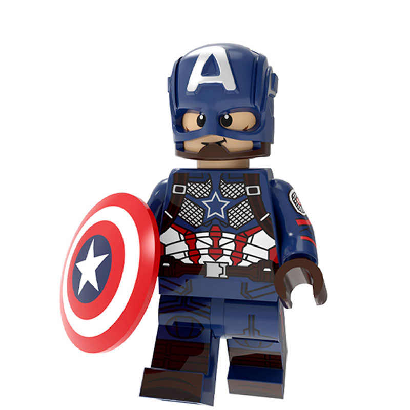 Marvel Avengers 4 Super Heroes Endgame Batman Thor Iron Man กัปตันอเมริกาสงครามแมงมุม Thanos Hulk อาคารบล็อกของเล่นของขวัญของเล่น