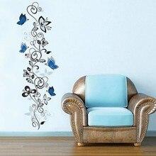 flower vine butterflies font b wall b font font b stickers b font living room font